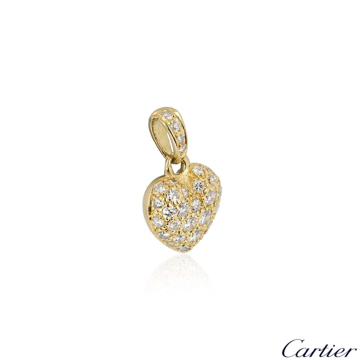 Cartier Yellow Gold Diamond Heart Charm